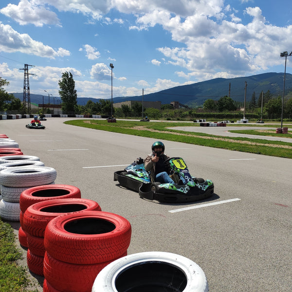 Action day with karting, paintball and barbecue in Sliven