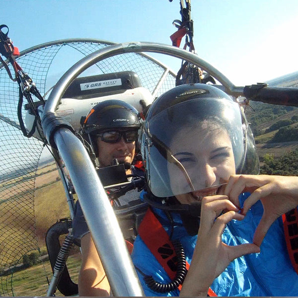 The magic of the Valley of the Roses and the Thracian kings of the air. Motor paraglider flight. Kazanlak