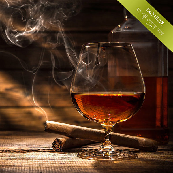 Online whiskey tasting experience and cigars with an expert for two or three.