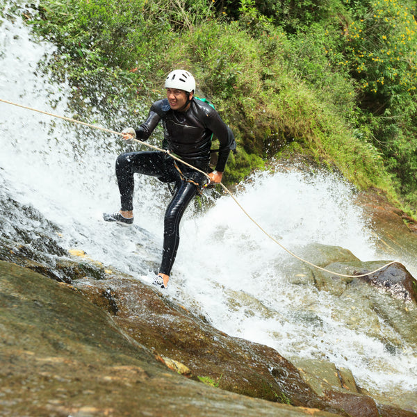 Canyoning and rappelling on the Vlahi Falls
