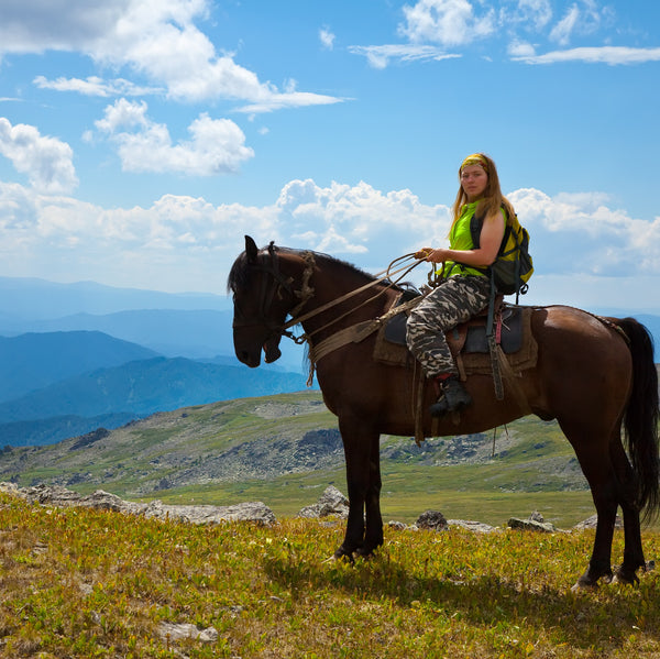 Wind in the hair, joy in the air. Horse riding in Bansko region