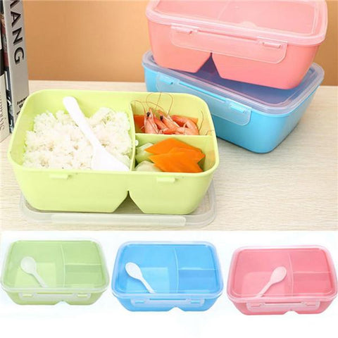 3 Compartments PP Bento Lunch Box