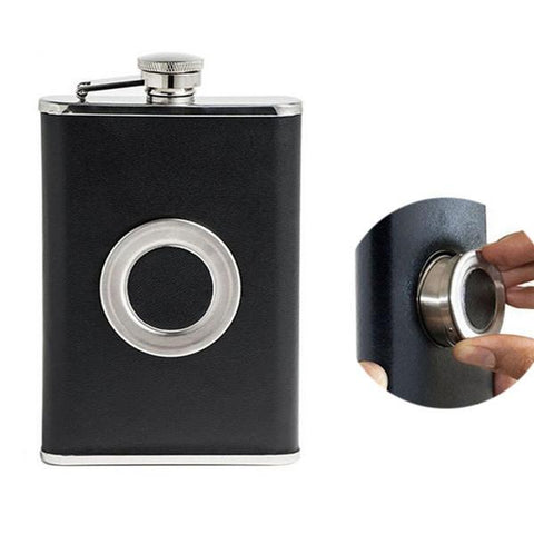 8oz Stainless Steel Hip Flask Screw Cap