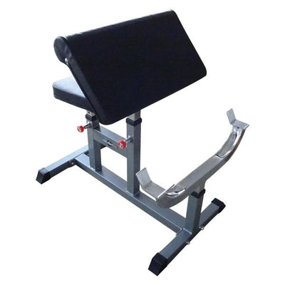Adjustable Silver Preacher Curl Bench-Gym Direct