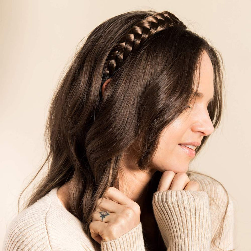 Headband with two braided strands