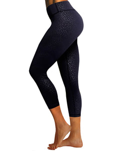 "BUBBLELIME 78P/22S Embossed Pattern Yoga Pants 22"" /26"" inseam"