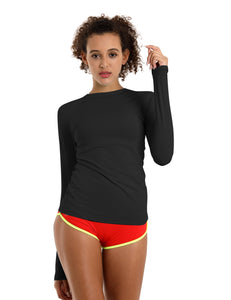 BUBBLELIME 84P/16S Long Sleeve Rashguard for Women