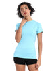 BUBBLELIME 84P/16S Short Sleeve Rashguard for Women