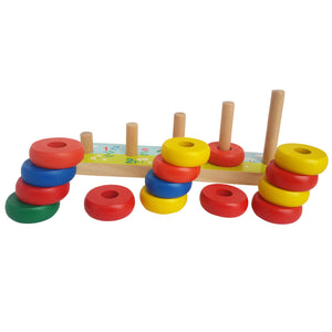Rainbow Calculation Counting Stacker (15 Pieces) | Number Learning - Trinkets & More