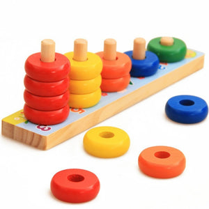 Rainbow Calculation Counting Stacker (15 Pieces) | Number Learning