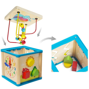 Activity Centre Play Cube Learning House (5-in-1) - Trinkets & More