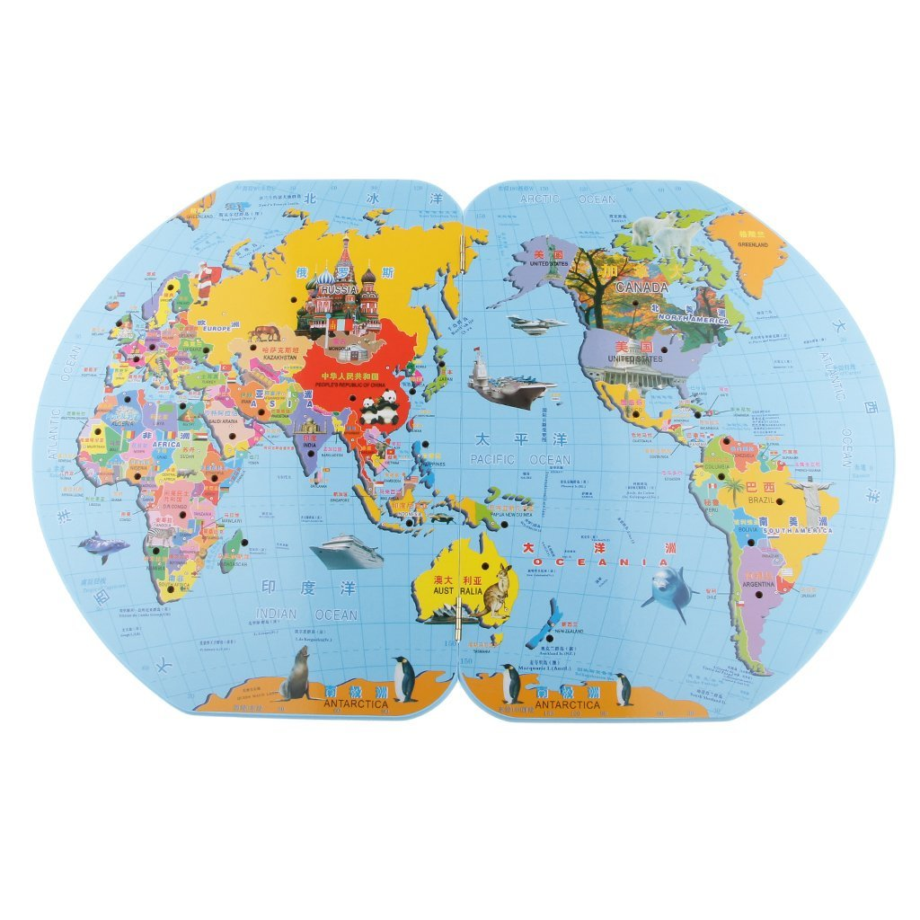 Trinkets more wooden world map with 36 flags geography made fun world map with 36 flags geography made fun trinkets more gumiabroncs Images