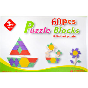 60 Piece Building Blocks | Montessori Toys - Trinkets & More
