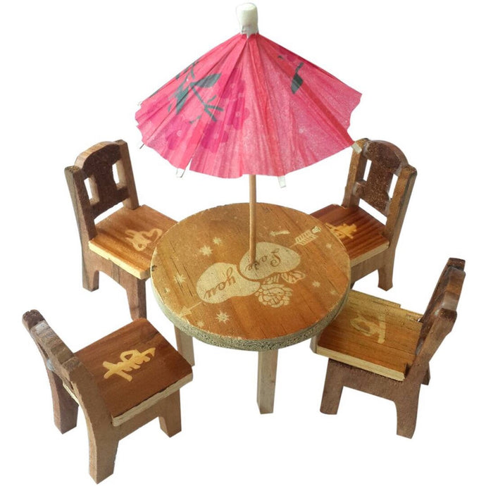 Cute Wooden Miniature Dinning Table | Furniture Doll House - Trinkets & More