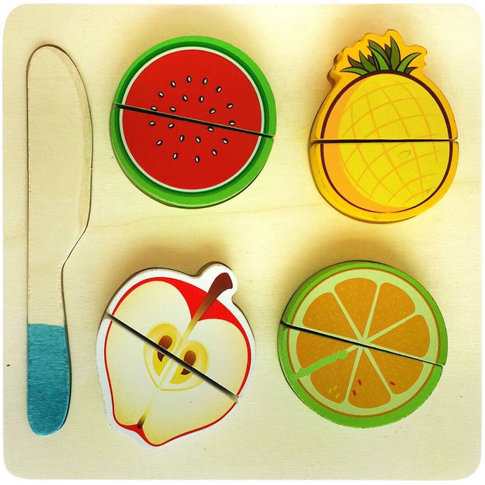 Fruit Cutting Set (10 Pieces) Toy | Realistic Sliceable Fruits Play - Trinkets & More