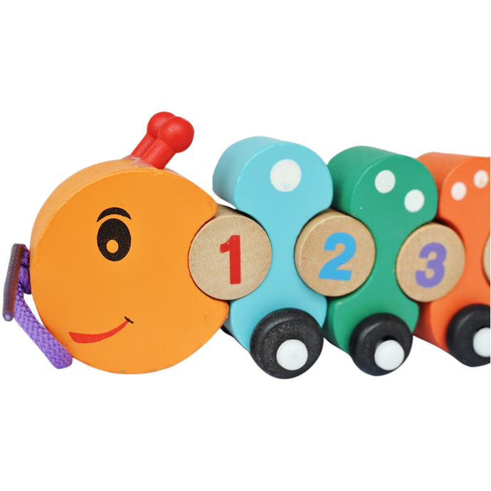 Caterpillar Number Train | Pull Along Toy - Trinkets & More