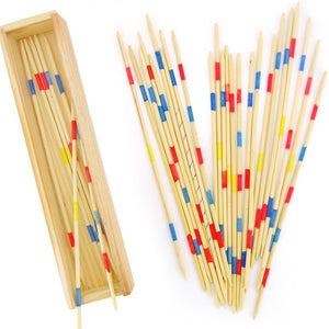 Mikado Game Wooden 31 Pick Up Sticks | Fun family game for Adults Kids 5+ Years - Trinkets & More