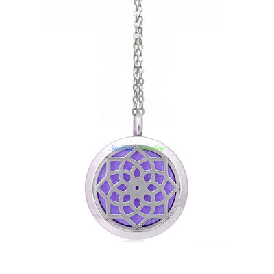 Stainless Steel Dream Catcher Oil Diffuser Necklace