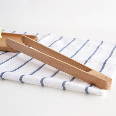 Wooden Barbecue Tongs