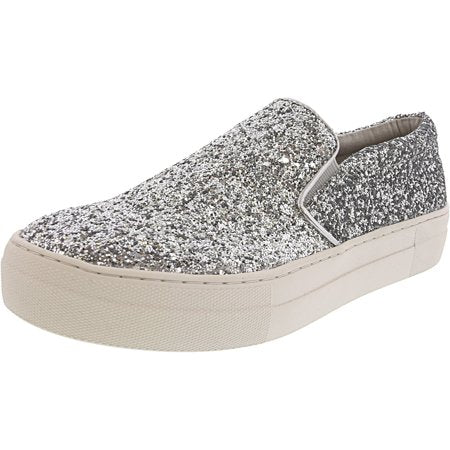 Gills Silver Glitter Flatform Sneakers