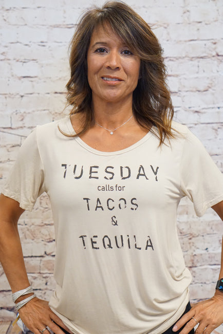 Tuesdays calls for Tacos &Taquila T-shirt