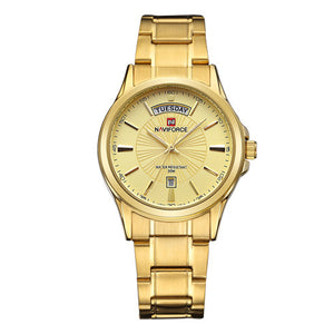 Luxury Gold Steel Wristwatch