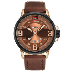 Leather Army Military Wristwatch