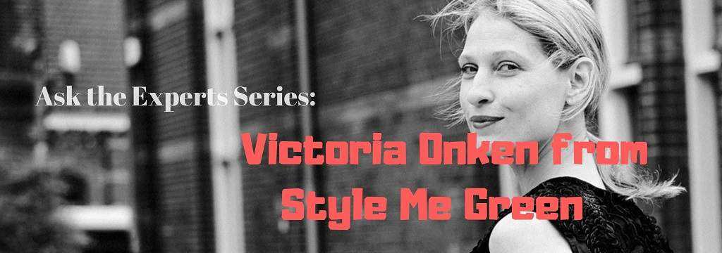 Victoria Onken from Style Me Green  - top banner