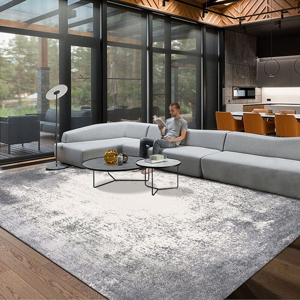 Harmaa Matto Post Modern Abstract Grey  Living Room Rug