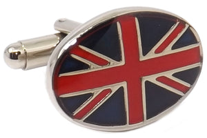 United Kingdom UK Oval Flag Mens Birthday Gift Cuff links by CUFFLINKS DIRECT