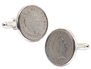 2014 - Mens 5p Coin Cuff Links in Gift Box or Bag by CUFFLINKS DIRECT