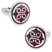 Luxury Round Wood & Silver Mens 5th Wedding Anniversary Gift by CUFFLINKS DIRECT