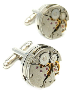 Watch Movement Mens Steampunk Vintage Style Design Gift by CUFFLINKS DIRECT