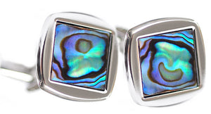 Stunning & Unique Abalone Shell Square Mens Wedding Gift Cufflinks