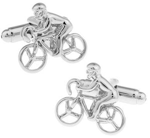 New Cycling Bike Cyclist Racing Cufflinks Shirt Bicycle GIFT by CUFFLINKS.DIRECT
