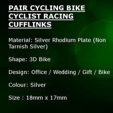 Road Bike Cycling Cyclist Racing Cufflinks Bicycle Gift by CUFFLINKS.DIRECT