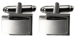 Petite Black Grey Gun Metal & Silver Rhodium Plated switch Cufflinks