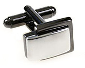 Petite Black Grey Gun Metal & Silver Rhodium Plated switch Cufflinks Direct