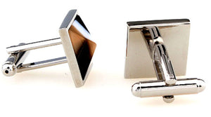 Multi Colour Fibre Optic Moonstone Mosaic Square Mens Gift by CUFFLINKS.DIRECT