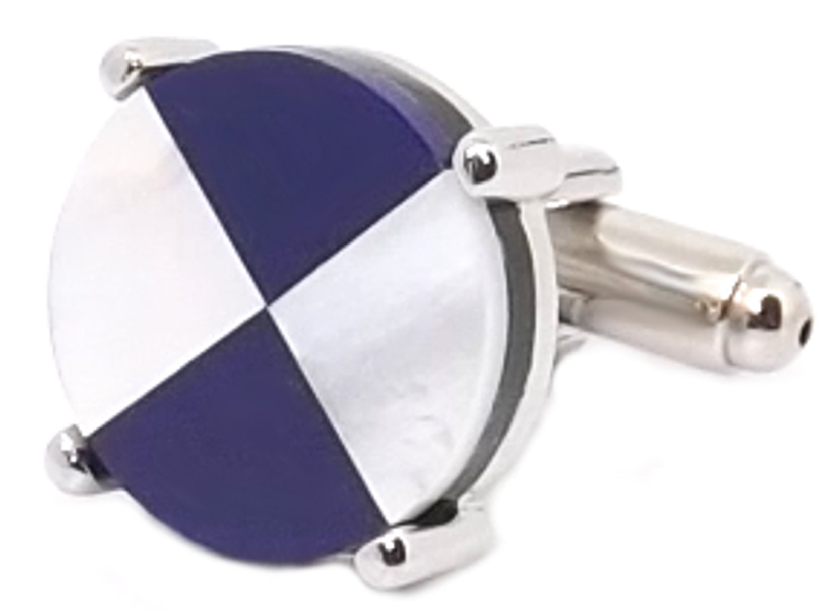 Blue & White Mother of Pearl Mens Wedding Gift Cuff links ...