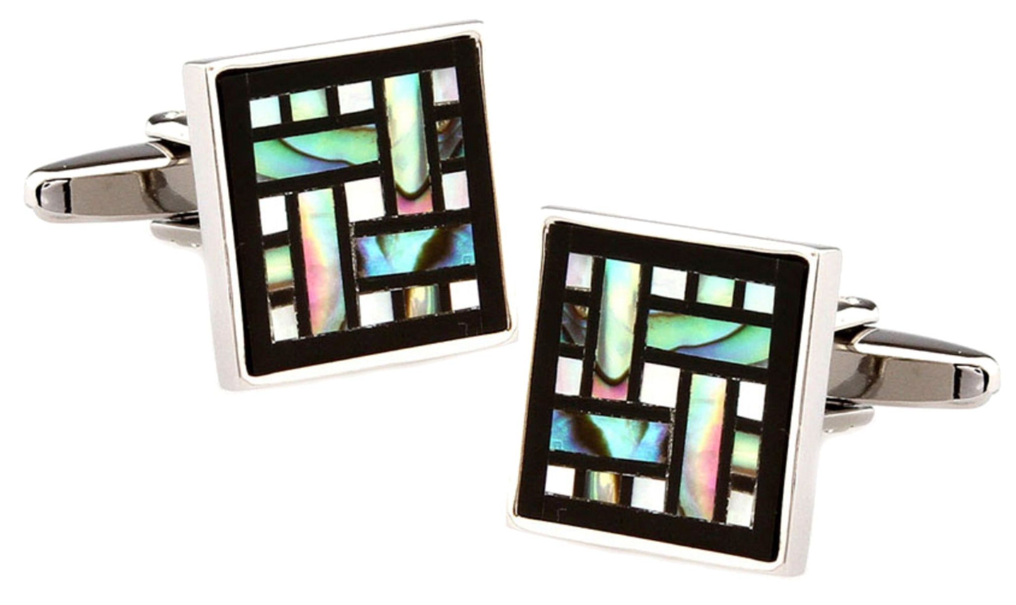 c24c1e49f200 ... Unique Abalone Shell & Black Onyx Square Mens Wedding Gift by CUFFLINKS  DIRECT ...