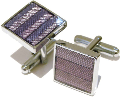 Purple Enamel Square Mens Gift Cufflinks Direct