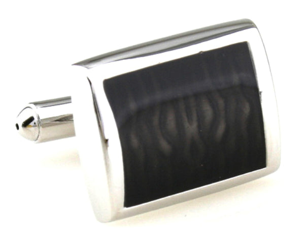 Classical & Stylish Hard Wearing Brown Black Enamel mens Gift by CUFFLINKS.DIRECT