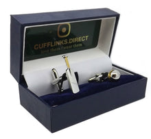 CRICKET BAT & BALL Silver & Gold Cufflinks Gift Wedding Favor - CUFFLINKS DIRECT