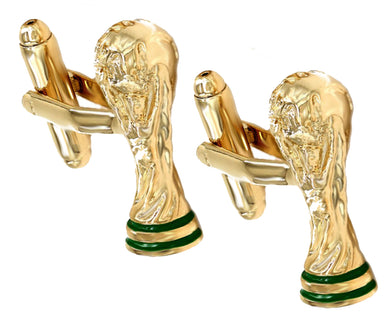 Gold Fifa World Cup Football Trophy Mens Gift Cuff links by CUFFLINKS DIRECT