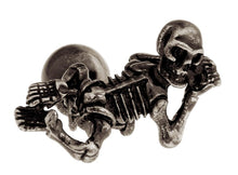 Gothic Skeleton Skull, Ball and Chain Mens Gift Cuff Links By CUFFLINKS DIRECT