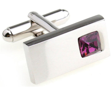 Beautiful Purple Crystal Design Mens Wedding Gift Cuff links by CUFFLINKS DIRECT