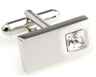 Beautiful Clear Crystal Design Mens Wedding Gift Cuff links by CUFFLINKS DIRECT