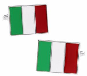 Italy Italian il Tricolore bandiera Flag Men's Wedding Gift by CUFFLINKS DIRECT