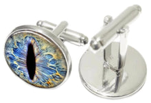 Unusual Hand Crafted Dragon Eye Glass Dome Cabochon Cuff links CUFFLINKS DIRECT
